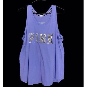 Victoria's Secret PINK Tank Top Sequins Size Large